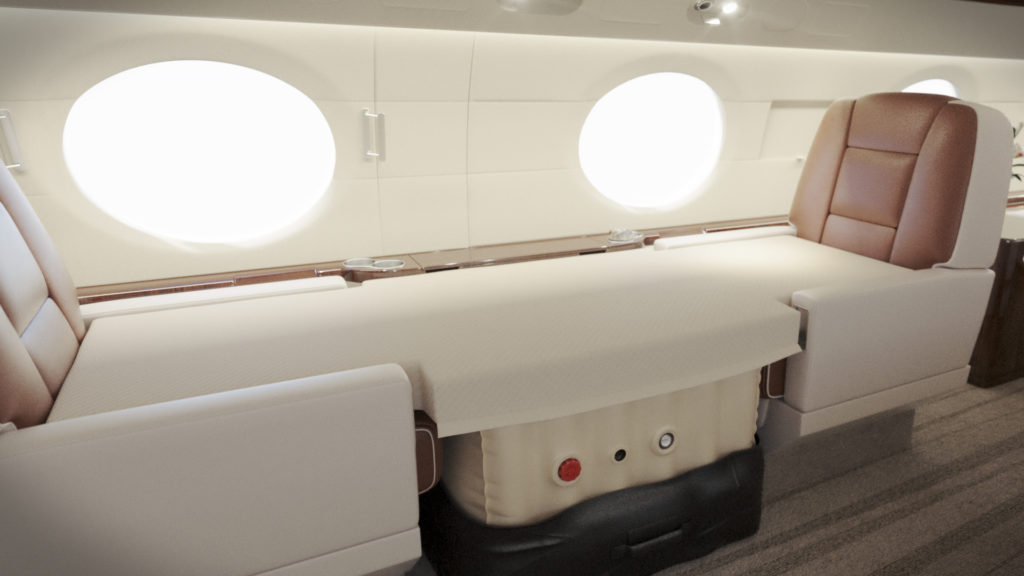 best bed for private jet jetbed club seat bed