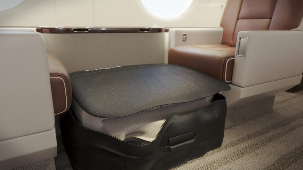 best bed for private jet jetbed stow position